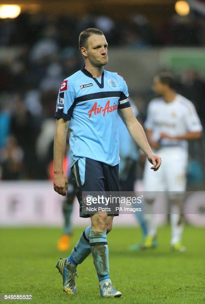 Queens Park Rangers' Clint Hill dejected after the final whistle