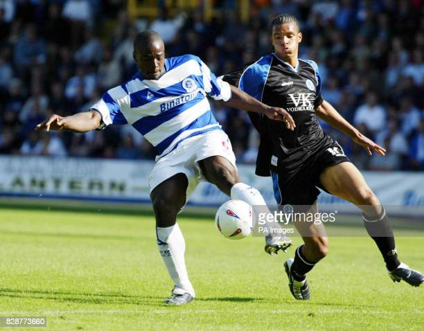 Queens Park Rangers' Daniel Shittu goes past Chesterfield's Caleb Folan during their Nationwide Division Two match at QPR's Loftus Road ground in...