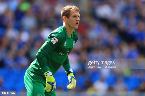 Queens Park Rangers' goalkeeper Alex Smithies during the Sky Bet Championship match at the Cardiff City Stadium