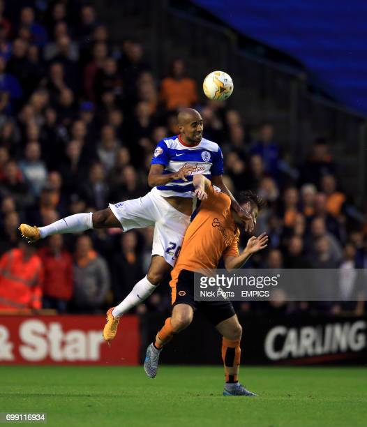 Queens Park Rangers' Karl Henry and Wolverhampton Wanderers' James Henry battle for the ball
