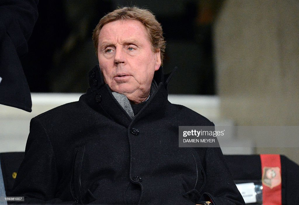 Queens Park Rangers manager Harry Redknapp attends a French L1 football match between Rennes and Bordeaux on January 12, 2013 at the route de Lorient stadium in Rennes, western France. AFP PHOTO / DAMIEN MEYER