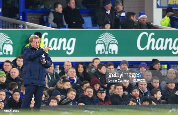 Queens Park Rangers manager Harry Redknapp gestures on the touchline