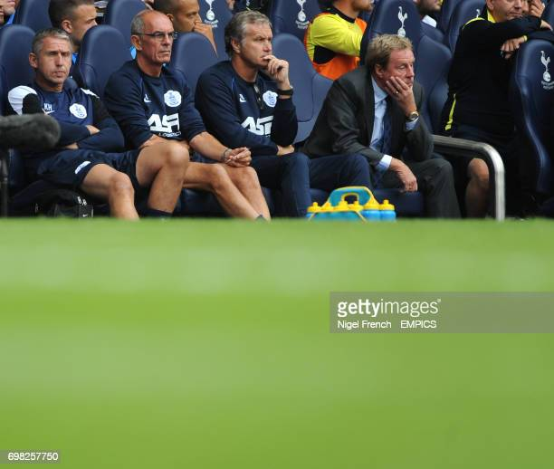 Queens Park Rangers' Manager Harry Redknapp looks on dejected as he watches his side play Tottenham Hotspur's