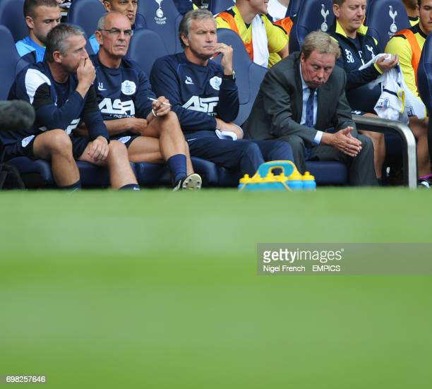 Queens Park Rangers' Manager Harry Redknapp shows his dejection during the game against Tottenham Hotspur's