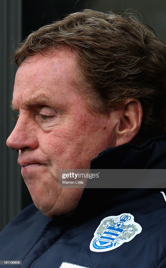 Queens Park Rangers manager Harry Rednapp looks on during the Premier League match between Swansea City and Queens Park Rangers at Liberty Stadium on February 9, 2013 in Swansea, Wales.