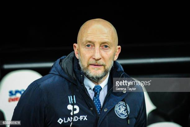 Queens Park Ranger's Manager Ian Holloway during the Sky Bet Championship match between Newcastle United and Queens Park Rangers at StJames' Park on...