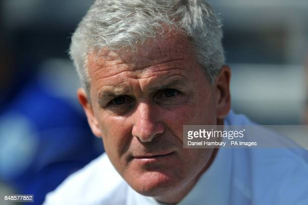 Queens Park Rangers manager Mark Hughes before the match