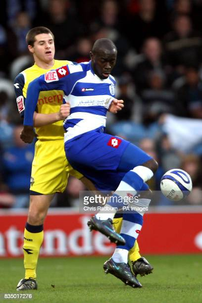 Queens Park Rangers' Patrick Agyemang vs Preston North End's Eddie Nolan battle for the ball