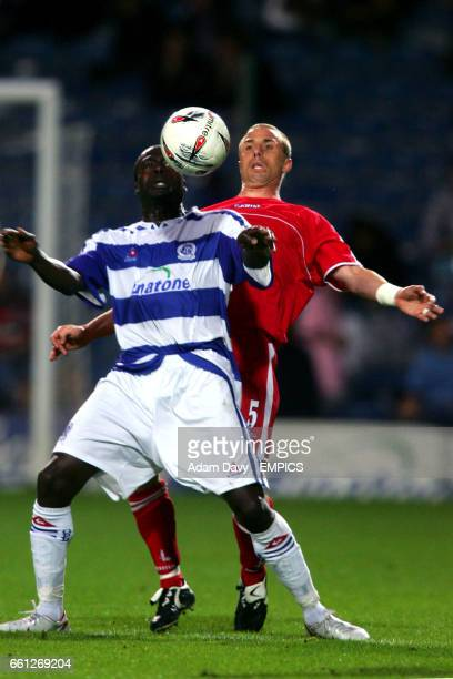 Queens Park Rangers' Paul Furlong shields the ball from Charlton Athletic's Chris Perry