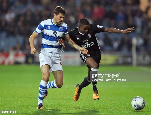 Queens Park Rangers' Pawel Wszolek and Fulham's Ryan Sessegnon in action during the Sky Bet Championship match at Loftus Road London
