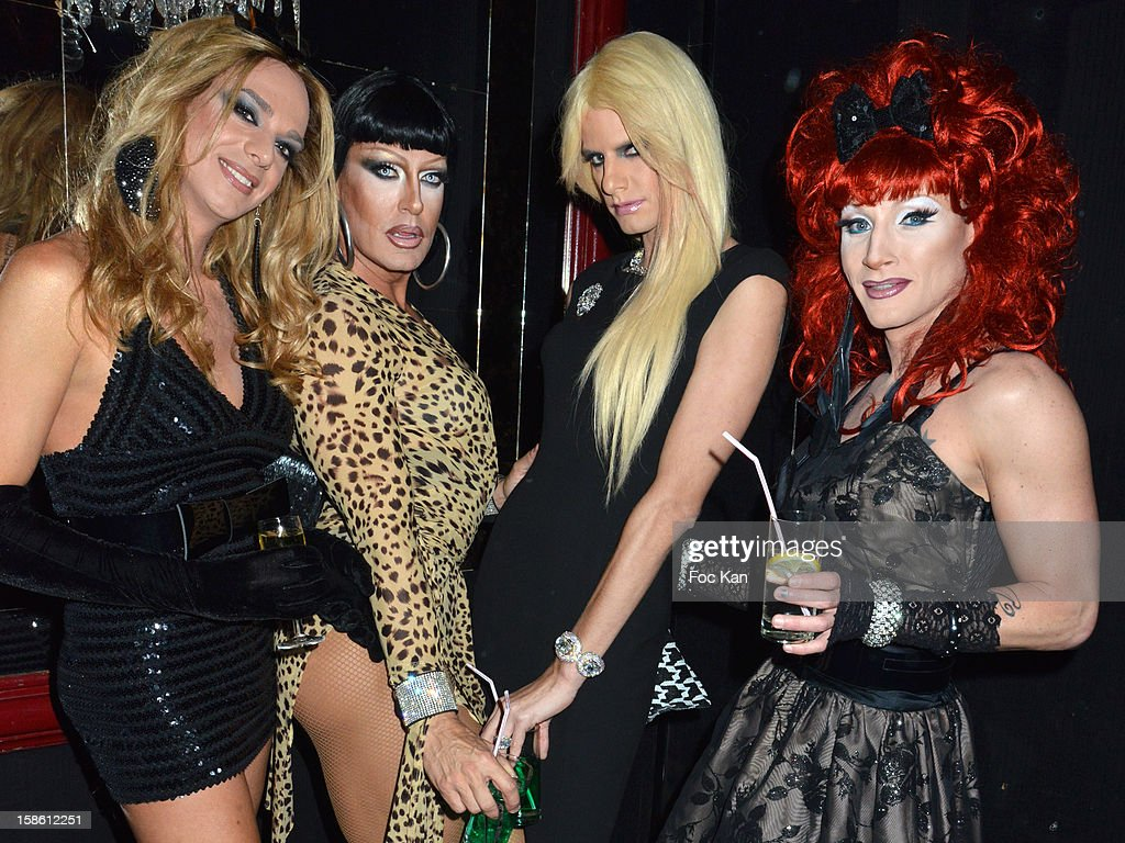 Queens Pipps, Sylvia, Victoria and Ava attend the 'Joyeux Paradis' Party by Emmanuel d'Orazio & Marc Zaffuto at Le Paradis Latin on December 20, 2012 in Paris, France.