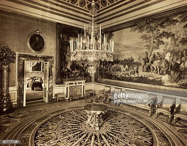 Queen's Sitting Room vintage photograph Palazzo Pitti Florence Italy 20th century