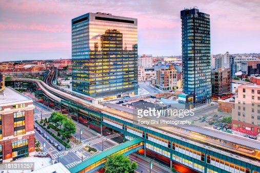 Queensboro Plaza and Subway cars rushing by