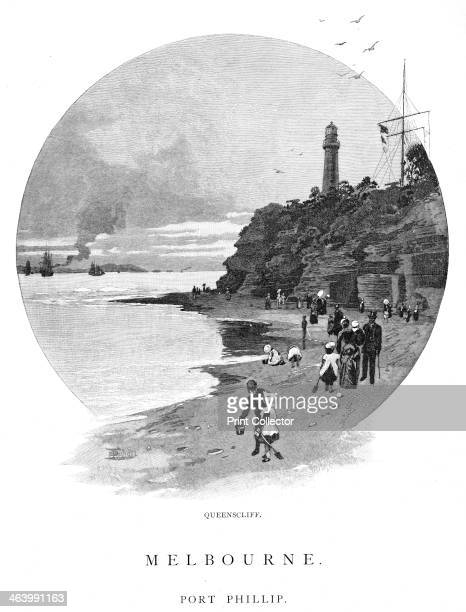 Queenscliff Port Phillip Victoria Australia 1886 Port Phillip is a large bay in southern Victoria Melbourne is located at its northern end Wood...