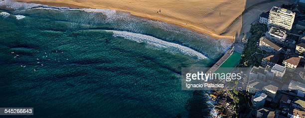 Queenscliff rock pool aerial