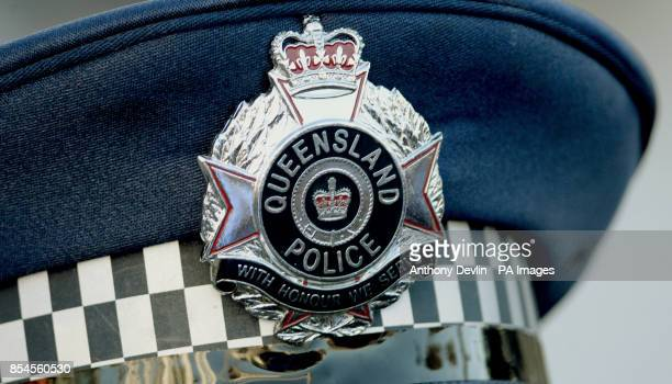 A Queensland police badge Australia PRESS ASSOCIATION Photo Picture date Saturday April 19 2014 Photo credit should read Anthony Devlin/PA Wire