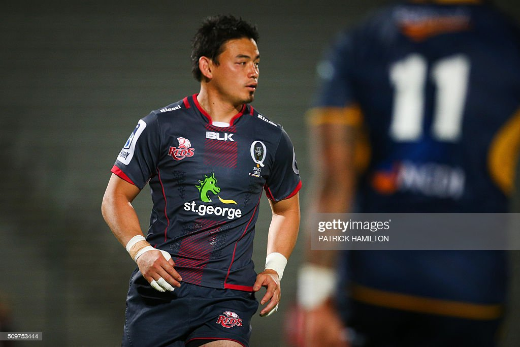 Queensland Reds Japanese import player Ayumu Goromaru plays during the Super Rugby trial between Queensland Reds and Brumbies at Ballymore, Brisbane on February 12, 2016. The Super Rugby season starts on February 26. AFP PHOTO / PATRICK HAMILTON ---IMAGE RESTRICTED TO EDITORIAL USE - STRICTLY NO COMMERCIAL USE--- / AFP / PATRICK HAMILTON