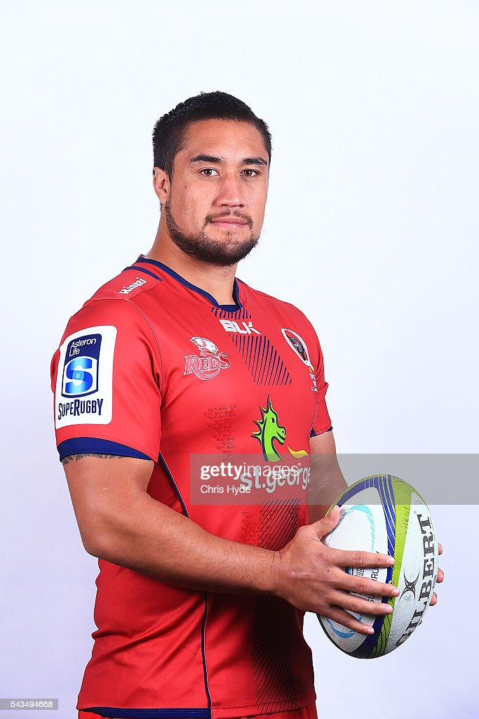 Queensland Reds player Leroy Houston poses for a portrait at Ballymore Stadium on June 29, 2016 in Brisbane, Australia.