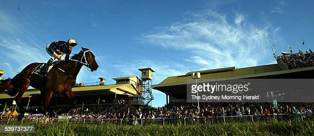 Queensland Winter Carnival Horse Racing at Eagle Farm The Brisbane Cup Race Day Image shows Race 7 3200m Brisbane Cup winner Portland Singa ridden by...