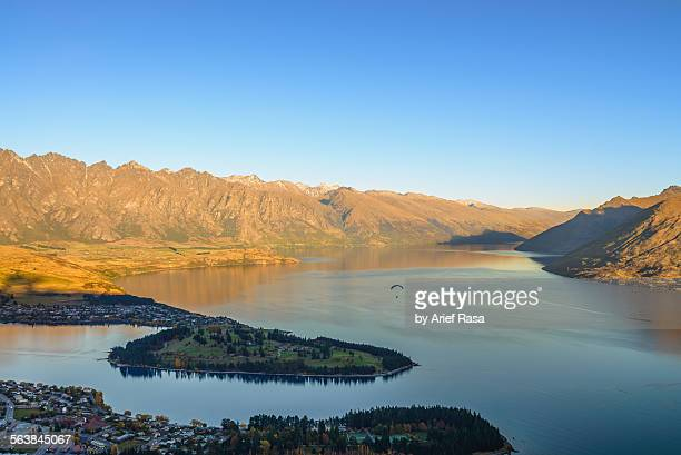 Queenstown aerial scenery