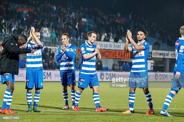 Queensy Menig of PEC Zwolle Ryan Thomas of PEC Zwolle Bart van Hintum of PEC Zwolle Wout Brama of PEC Zwolle Ouasim Bouy of PEC Zwolle during the...