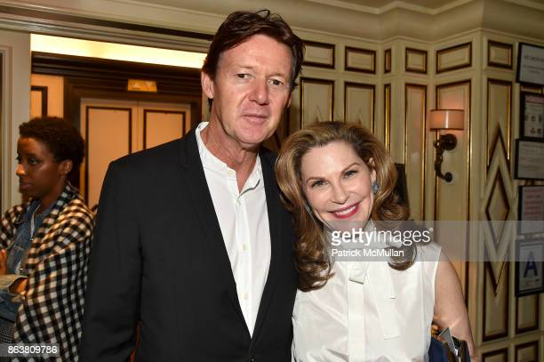 Quentin Bacon and Cathy Graham attend the launch of Second Bloom Cathy Graham's Art of the Table hosted by Joanna Coles and Clinton Smith at Bergdorf...