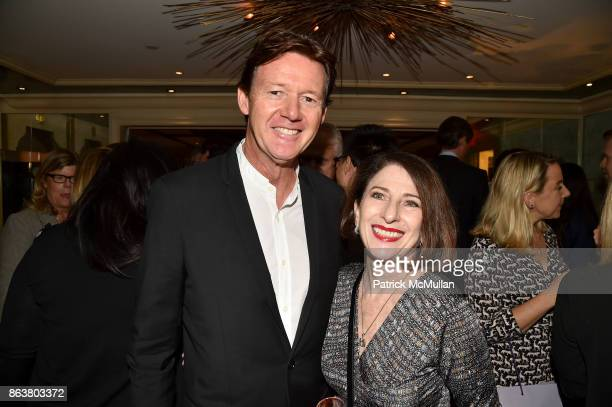Quentin Bacon and Jackie Dector attend the launch of Second Bloom Cathy Graham's Art of the Table hosted by Joanna Coles and Clinton Smith at...