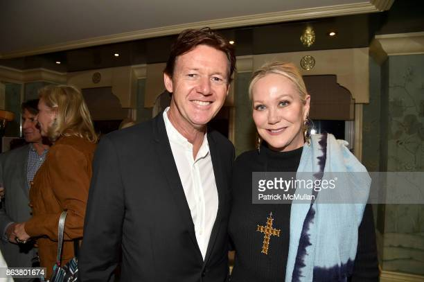 Quentin Bacon and Nina Griscom attend the launch of Second Bloom Cathy Graham's Art of the Table hosted by Joanna Coles and Clinton Smith at Bergdorf...