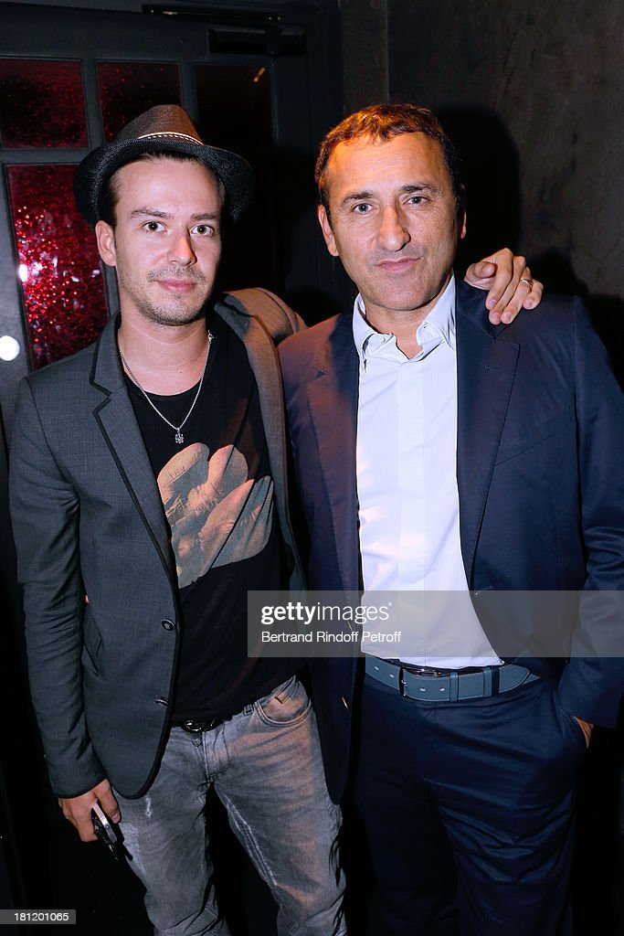 Quentin de Fleuriau and CEO of 23th french TV chanel Pascal Houzelot attend 'A.Club Party' at Castel on September 19, 2013 in Paris, France.