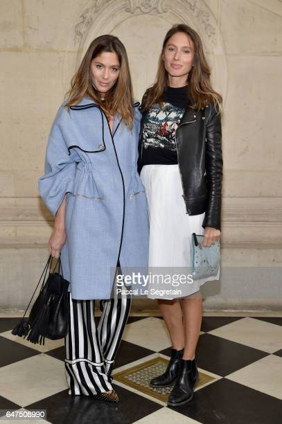 Quentin Jones and Jemima Jones attend the Christian Dior show as part of the Paris Fashion Week Womenswear Fall/Winter 2017/2018 at Musee Rodin on...