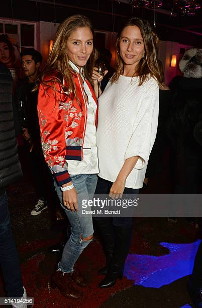 Quentin Jones and Jemima Jones attend the ES Magazine 'Young London' party with Converse at Bistrotheque on March 7 2016 in London England