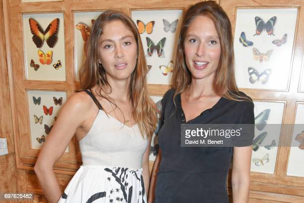 Quentin Jones and Jemima Jones attend the Isa Arfen x Alex Eagle lunch at The Chess Club on June 19 2017 in London England