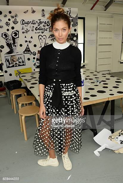 Quentin Jones attends the #SheInspiresMe Car Boot Sale presented by The Store and Brewer Street Car Park in aid of Women for Women International at...