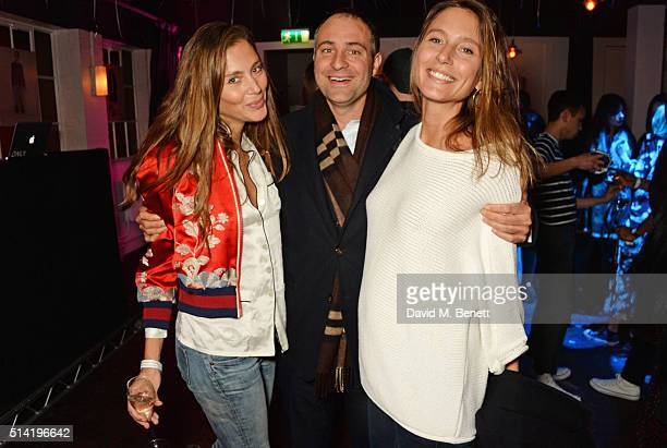 Quentin Jones Ben Goldsmith and Jemima Jones attend the ES Magazine 'Young London' party with Converse at Bistrotheque on March 7 2016 in London...