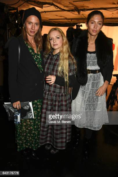 Quentin Jones Hannah Weiland and Jemima Jones attend the Shrimps of London presentation during the London Fashion Week February 2017 collections on...