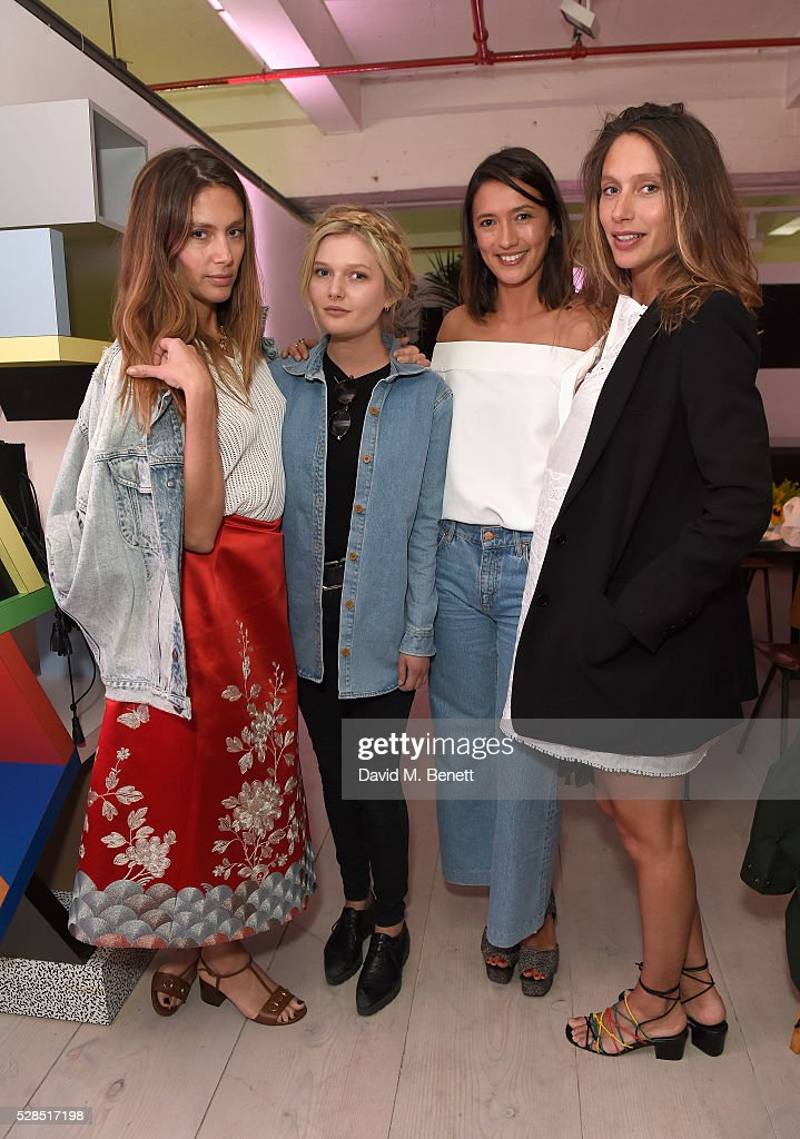 Quentin Jones, Sophie Kennedy Clark, Hikari Yokoyama and Jemima Jones attend a private dinner hosted by M.i.h Jeans to celebrate their 10th anniversary at Brewer Street Car Park on May 5, 2016 in London, England.