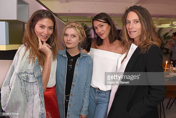 Quentin Jones Sophie Kennedy Clark Hikari Yokoyama and Jemima Jones attend a private dinner hosted by Mih Jeans to celebrate their 10th anniversary...