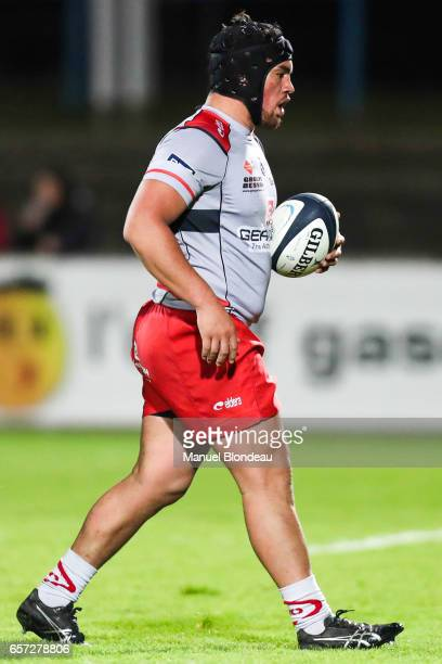 Quentin MacDonald of Oyonnax during the Pro D2 Match between SU Agen and Oyonnax on March 23 2017 in Agen France