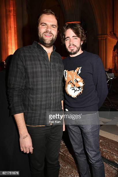 Quentin Margot and Eric Metzger attend Les Fooding 2017 / Cocktail at Cathedrale Americaine de Paris on November 7 2016 in Paris France