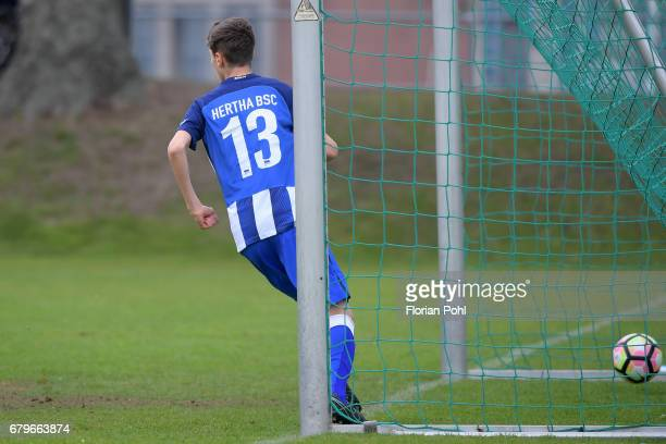 Quentin Seidel of Hertha BSC U14 during the Nike Premier Cup 2017 on May 6 2017 in Berlin Germany