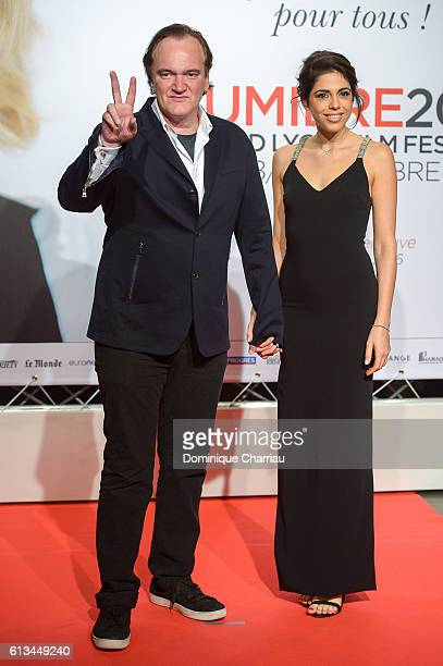 Quentin Tarantino and Daniella Pick attend the opening ceremony of the 8th Lumiere Film Festival in Lyon on October 8 2016 in Lyon France