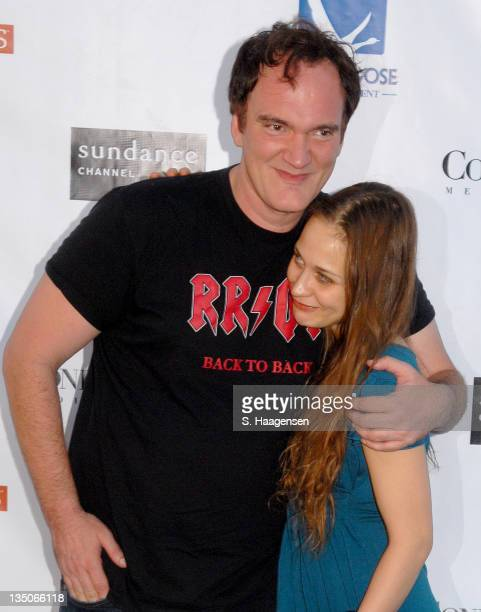 Quentin Tarantino and Fiona Apple during Grey Goose Entertainment and Sundance Channel in Association with Conde Nast Media Group Celebrate 2006...