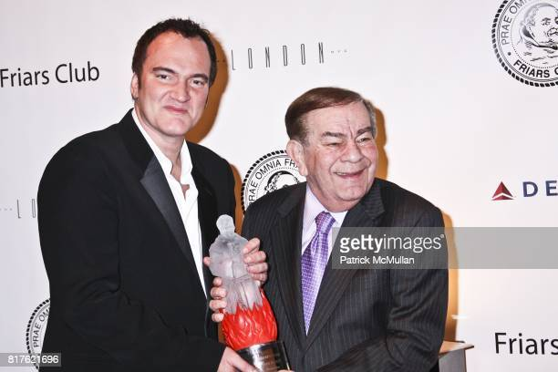 Quentin Tarantino and Freddie Roman attend THE NEW YORK FRIARS CLUB ROAST OF QUENTIN TARANTINO at Friars Club on December 1 2010 in New York City