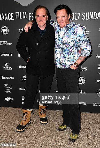 Quentin Tarantino and Michael Madsen attend 'Reservoir Dogs' 25th Anniversary Screening during the 2017 Sundance Film Festival at Eccles Center...