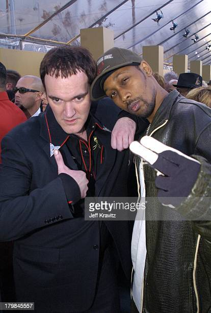 Quentin Tarantino and RZA during The 46th Annual Grammy Awards Arrivals at Staples Center in Los Angeles California United States