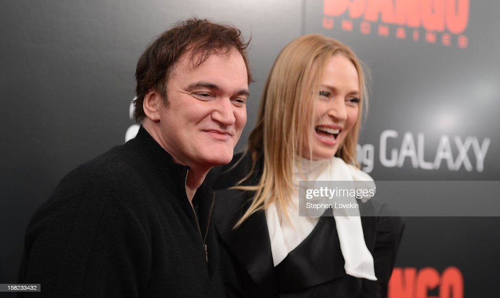 <a gi-track='captionPersonalityLinkClicked' href=/galleries/search?phrase=Quentin+Tarantino&family=editorial&specificpeople=171796 ng-click='$event.stopPropagation()'>Quentin Tarantino</a> and <a gi-track='captionPersonalityLinkClicked' href=/galleries/search?phrase=Uma+Thurman&family=editorial&specificpeople=171973 ng-click='$event.stopPropagation()'>Uma Thurman</a> attend a screening of 'Django Unchained' hosted by The Weinstein Company with The Hollywood Reporter, Samsung Galaxy and The Cinema Society at Ziegfeld Theater on December 11, 2012 in New York City.