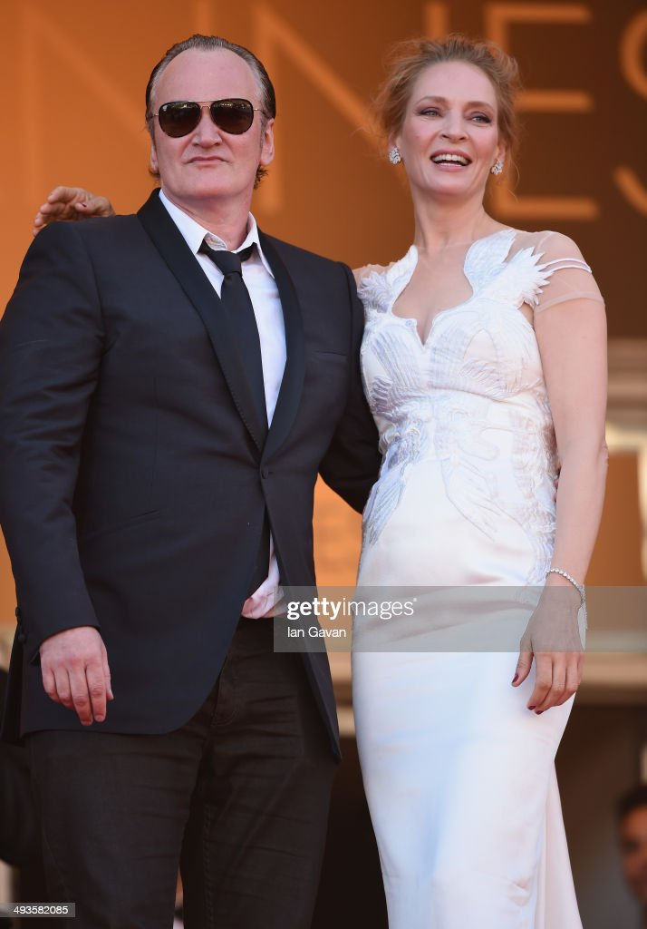 Quentin Tarantino and Uma Thurman attend the Closing Ceremony and 'A Fistful of Dollars' screening during the 67th Annual Cannes Film Festival on May 24, 2014 in Cannes, France.