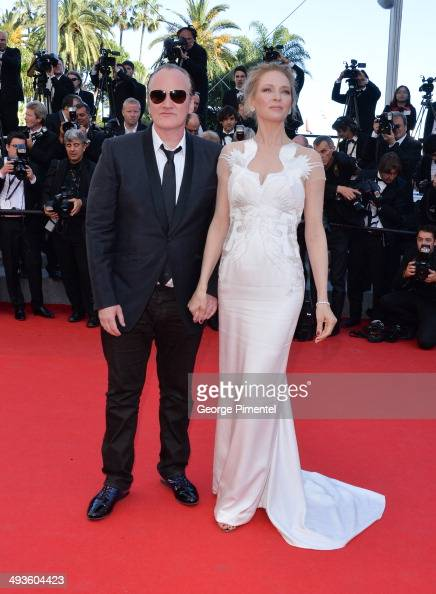 Quentin Tarantino and Uma Thurman attend the Closing Ceremony and Fistful of Dollars Screening at the 67th Annual Cannes Film Festival on May 24 2014...