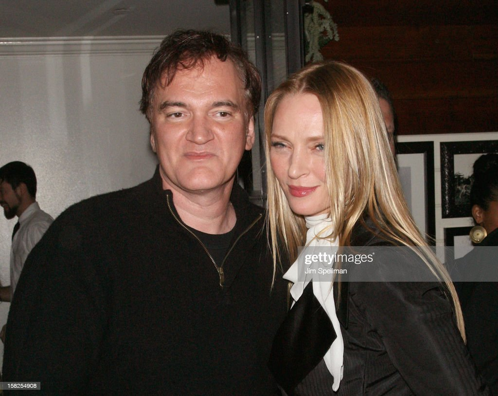 <a gi-track='captionPersonalityLinkClicked' href=/galleries/search?phrase=Quentin+Tarantino&family=editorial&specificpeople=171796 ng-click='$event.stopPropagation()'>Quentin Tarantino</a> and <a gi-track='captionPersonalityLinkClicked' href=/galleries/search?phrase=Uma+Thurman&family=editorial&specificpeople=171973 ng-click='$event.stopPropagation()'>Uma Thurman</a> attend The Weinstein Company with The Hollywood Reporter, Samsung Galaxy & The Cinema Society screening of 'Django Unchained' after party at the The Standard Hotel on December 11, 2012 in New York City.