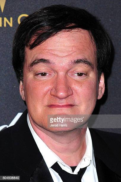 Quentin Tarantino arrives at the 2016 Weinstein Company and Netflix Golden Globes After Party on January 10 2016 in Los Angeles California